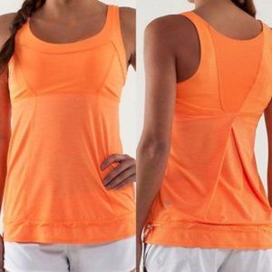 Lululemon Run Ta Ta Topper Tank Top/ Bright Orange
